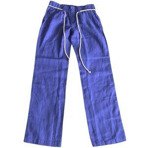 NEW London Jean 100% Linen Blue Pants Size 4